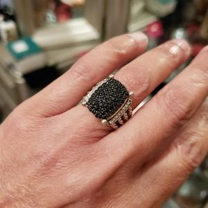 DAVID YURMAN New 16 x 12mm Wheaton Pave Black Diam